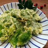 フキノトウと葉っぱの天ぷら