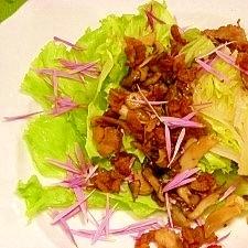 キノコとカリカリ豚肉の☆ウェッジサラダ
