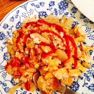 ジャガイモ入りの炒り卵