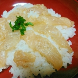 ヒラメの塩麹漬け丼
