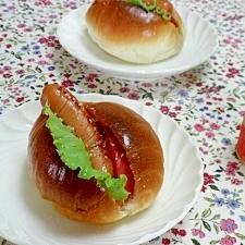 トマトはちょい焼き♪ウインナのロールサンド