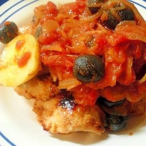 ☆塩麹でやゎやわ!鶏胸肉のトマトソースがけ☆