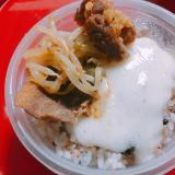 五穀米に乗せる トロロ&プルコギ丼弁当