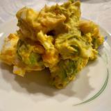 アボカドと卵のほっこりサラダ