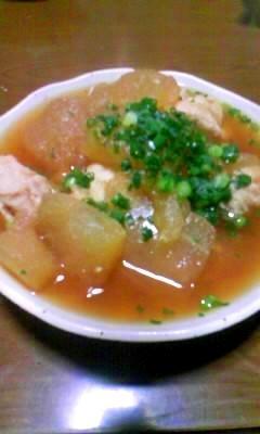 冬瓜と鶏肉団子の煮物