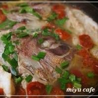 ミニトマトと鯛の中華煮♪