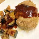 野菜とハンバーグのデリシャスソース