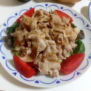 野菜と一緒に食べるボリューミーな豚しゃぶサラダ