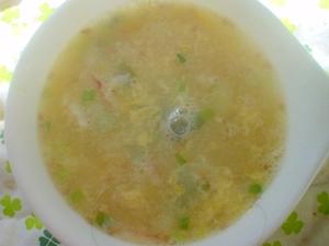 市販のわかめスープにちょい足しボリューム満点スープ