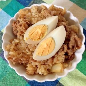 煮卵の牛丼☆