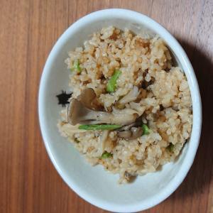 しらすと舞茸炊き込み玄米