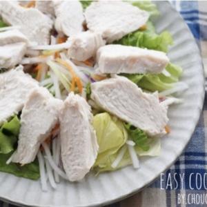 鶏胸肉と塩水だけ!炊飯器にお任せ♡超しっとり塩鶏