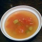 トマトとアスパラの中華スープ