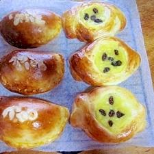 HBで生地つくり~クリーム&さつま芋の菓子パン