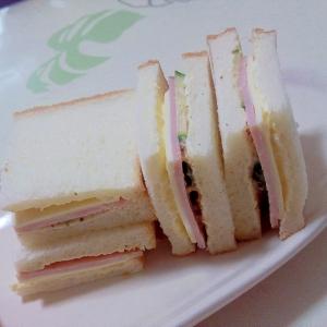 ハムチーズサンド++