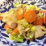 筍・キャベツ・豚コマの味噌生姜炒め
