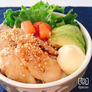 柔らか鶏胸肉の簡単照りマヨ丼(カフェ風)