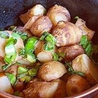菊芋と小松菜のにんにく和え
