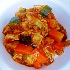 お野菜たっぷり筍と鶏肉のトマト煮