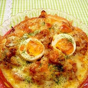 残ったカレーで福岡B級グルメ「焼きチーズカレー丼」