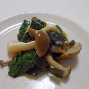 レンジで簡単*しめじと小松菜の海苔和え*