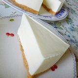 ビスケット台も美味しいレアチーズケーキ