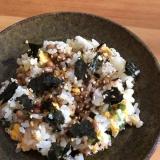 ネギと海苔の納豆チャーハン