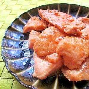 鶏むね肉のレモン味噌照り焼き