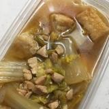 鶏胸肉と厚揚げ豆腐と白菜の煮物(*^^*)☆