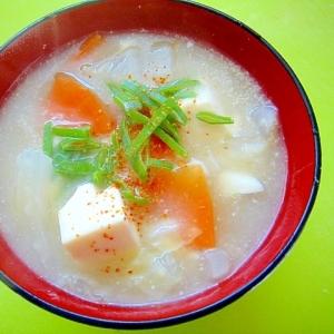 豆腐と野菜のとろみ味噌汁