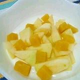 塩麹で☆りんご&芋ようかんヨーグルト♪