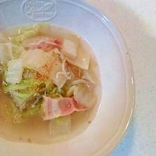 白菜としらすの中華スープ