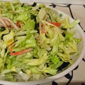 春キャベツの海鮮風サラダ