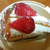 シフォンケーキで苺ショート
