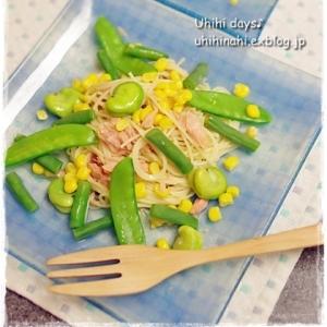 低カロリー♫ さっぱり 春豆パスタサラダ