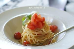 トマトの冷製パスタ♪