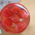 スムージーや、アイスのトッピングにお勧め♪苺の冷凍