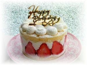 お一人様de苺のデコレーションケーキ