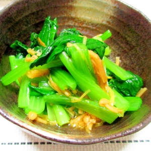 とにかく簡単な一品☆小松菜のなめたけ和え