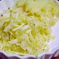 粒マスタードで春野菜のオイルドレッシングサラダ