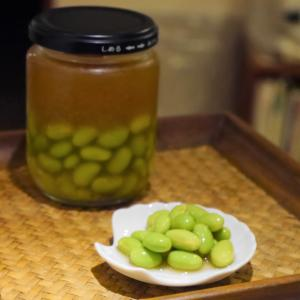 簡単おつまみ★枝豆のわさび×めんつゆ漬け