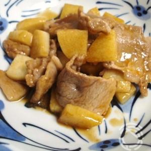 長芋と豚肉のオイスターソース炒め