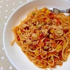 簡単♪ひよこ豆のトマトソースパスタ