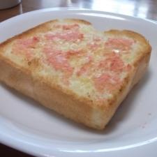 以外においしい♪明太子トースト
