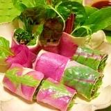 減塩☆野菜たっぷり生春巻き
