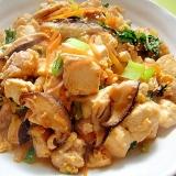 たっぷり野菜と鶏肉の炒り豆腐
