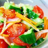 中華ドレッシング*トマトとキュウリのサラダ