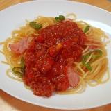トマトのうまみをプラス!ミートスパゲティ