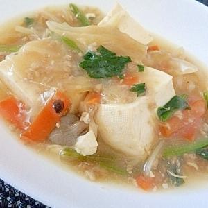 食費節約☆ 豆腐の野菜あんかけ