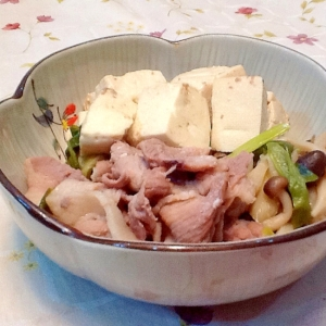 ささっと一品☆豚こまで肉豆腐